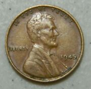 1945 Us Wheat Penny Lincoln Cent From Coin Collection 1945-p