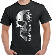 Smith And Wesson Skull Firearms T-shirt - Unisex Tee High Quality