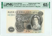 Great Britain N/d 1970-1975 10 Pounds. Replacement. P-376c. Pmg-65epq.