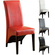 Furniture Of America Marcello High-back Leatherette Dining Chair, Black, Set Of