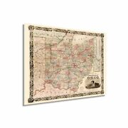 Historix Vintage 1851 State Of Ohio Map - 24x32 Inch Ohio State Vintage Map -...