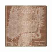 Brand Andndash Stone And Beam Modern Copper Print Wall Art Of New York City Map...
