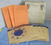 Vintage Linguaphone French Course - 45rpm Records In Original Case--collectible