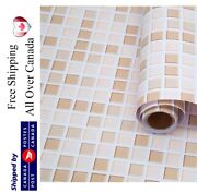 Mosaic Wallpaper Peel And Stick Removable Contact Paper Selfadhesive Vinyl