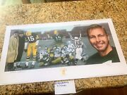 Bart Starr Ice Bowl Autographed Lithograph Limited Edition
