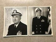 Vintage 1961 Personalized Autographed Press Photo Us Navy Rear Admiral Gentner