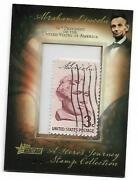 2009 Topps Heritage Abraham Lincoln Stamp Collection 16th Us President /100 Mint