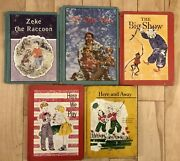 5 Vintage 1960s Readers Childrens School Book Primers Here And Away Zeke Circus