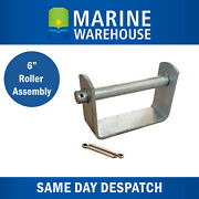 Boat Trailer Roller Flat Bracket 6 Assembly W/ Spindle And Split Pins 43210
