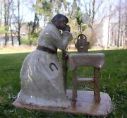 Woman Mourning W/ Face Jug Dime Bank 1 Of A Kind Stoneware Folk Art By Berdej