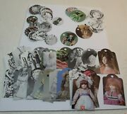68 Hang Tags Doll Pictures Price Antique Shops Garage Sales W/string Ooak 12b