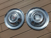 2 Vintage 1950and039s Original Packard Dog Bowl Style Hubcaps