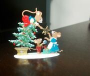 Wilhelm Schweizer Figure 3 Mouse Mice Christmas German Pewter 1997 - 2 Sided