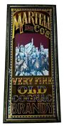 Vintage Martell And Coand039s Old Very Fine Old Cognac Brandy 38 X 18 Mirror Sign