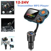 12-24v Bluetooth Car Fm Transmitter Mp3 Player Hands Free Call Radio Usb Charger