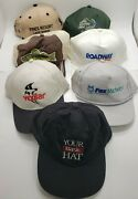 Lot Of 7 Miscellaneous Hats Caps, Roadway, Walley, Fox Midwest, Fish- Trucking