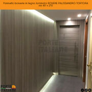 Panel Wainscoting Wooden Laminated Oak Palisander Taupe From 60 X 210