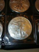Lot Of 10 Us Silver Eagles 2013 Bullion Half Roll Uncirculated .9999 Troy Ounce