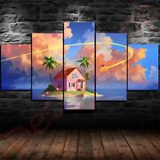 Kame House Goku 5 Pieces Framed Canvas Poster Wall Decor Anime Gift Free Shippin
