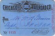 1893 Chicago Erie Railroad Railway Rr Rwy Pass