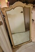 Vintage Gardner Mirror Set Gold / Cream Scrolled Arched Wood-frame Wall Mirrors