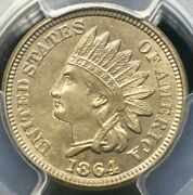 1864 Indian Head Cent Copper Nickel Pcgs Ms64 Full Luster No Toning