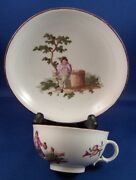 Rare 18thc Royal Vienna Porcelain Scenic Cup And Saucer Porzellan Tasse Wien Scene