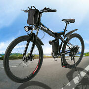 New@26and039and039 Folding Electric Bike Mountain Bicyclecity Ebike Shimano 21speed 350w