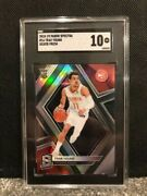 2018-19 Panini Spectra 16 Trae Young Silver Prizm Sgc Gem Mint 10