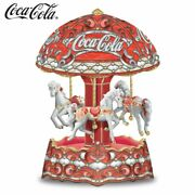 Coca-cola Carousel Music Box With Lights And Motion By The Bradford Exchange