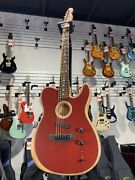 Fender Acoustasonic Plekand039d And Set Up Telecaster - Crimson Red Free Shipping