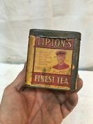 Vintage Lipton Tea Tin Can Paper Label Advertising General Store 3in Tall