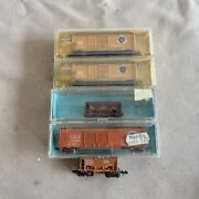 Mixed Maker N Scale Bessemer And Lake Erie Boxcar And Ore Car Lot