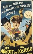 Abbott And Costello Comin' Round The Mountain Linen Backed Movie Insert Poster