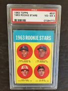 1963 Topps Pete Rose Rookie Card 537 Psa 4 Vg-ex