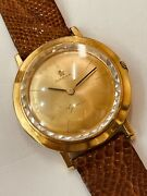 Omega Geneve Vintage Yellow Gold With Inner Bezel Crystals 793