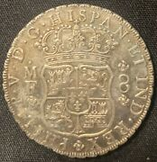 Mexico 1737 8 Reales Philip V Pillar Dollar 8 Reale Salvaged From Rooswijk Wreck