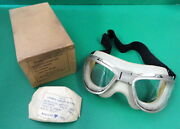 U.s. Air Corps An-6530 Flying Goggles-boxed-100 Original