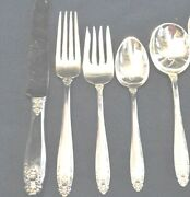 Prelude By International Sterling Flatware 4 Settings 5 Pieces Per Setting