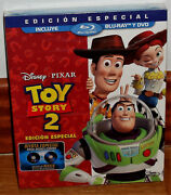 Toy Story 2 Edition Special Disney Combo Blu-ray+dvd Slipcover No Open R2