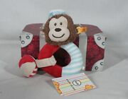 Rare Discontinued Original Steiff Monkey Plush Teething Ring New In Suitcase