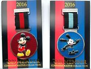 Oswald And Mickey Medals / Pins D23 Member Commemorative Collection - 2016 Disney