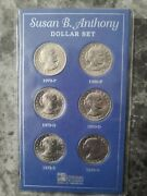 Susan B. Anthony Complete Dollar 1 1979-1980 P D And S Mints 6 Extremely Rare