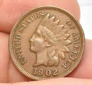 Raw Fine Or Better 1902 Indian Head Small Cent Easy To See Liberty