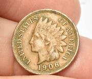 Raw Fine Or Better 1906 Indian Head Small Cent Easy To See Liberty
