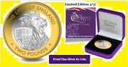 Biot British Indian Ocean Territory 2 Pound 2021 The Lion Of England Rare