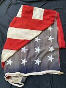 Original Wwii Huge 14x9 Foot Post Us Flag Or Ensign Stars And Stripes