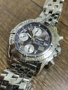 Auth Breitling Watch Cockpit A13358 A152c78pa Automatic Chronograph Date F/s