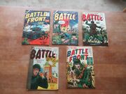 Awesome Lot Of 5 Atlas 1950's Golden Age War Comics One Pre Code Battle Front
