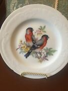 Limoges Pair Of Birds Wall Plates Hand Painted Made In France8 Inch Plates